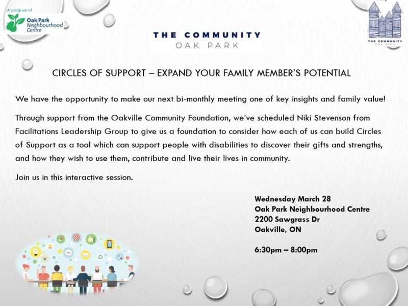 OAK PARK CIRCLES OF SUPPORT MARCH 28TH