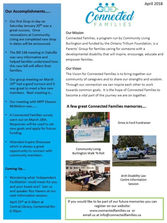 NEW!!!! First Newsletter for Connected Families