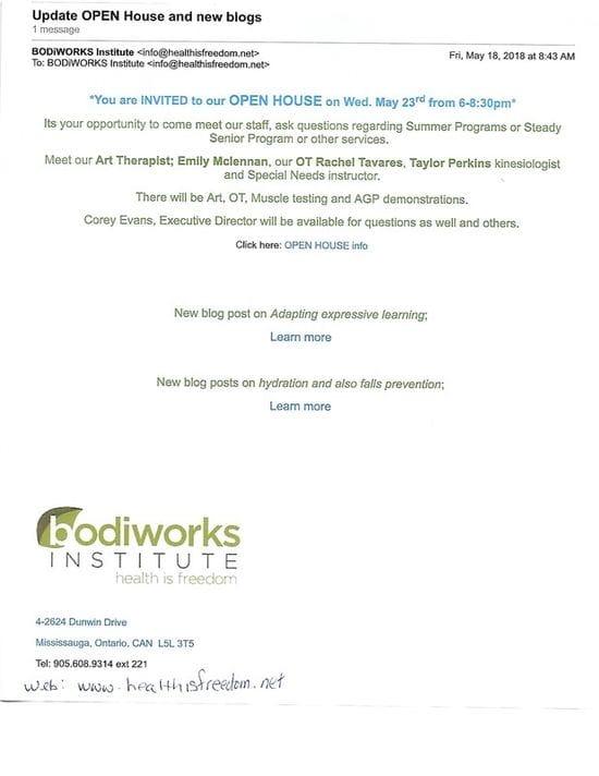 New!!! Bodiworks Open House