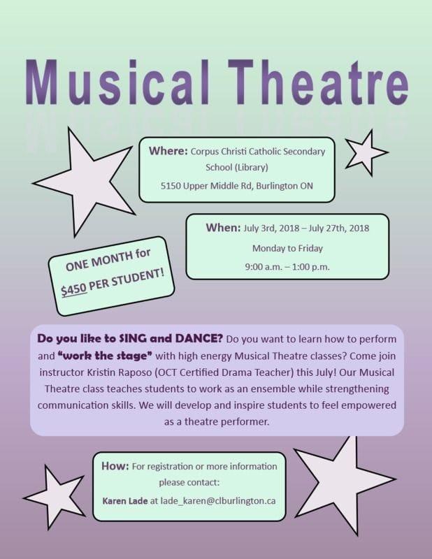 New Musical Theatre program in Burlington