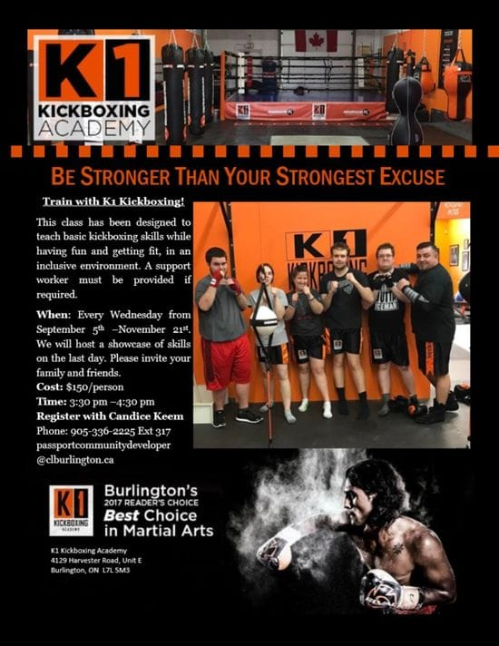 K1 Kickboxing starting up in September....Great Program!!!
