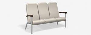 SPE Companion-4203H-Three Seater w Wood Arms