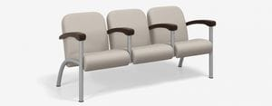 SPE Companion-4213M Three Seater w Int. Wood Arms