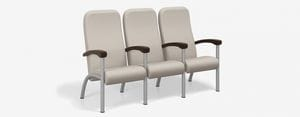 SPE Companion-4223H-Three Seater High Back w Wood Arms