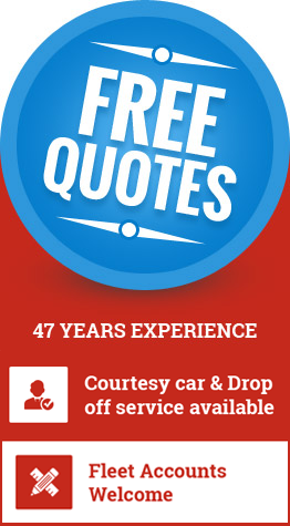 BRB Smash Repairs offers free quotes and has 47 years experience