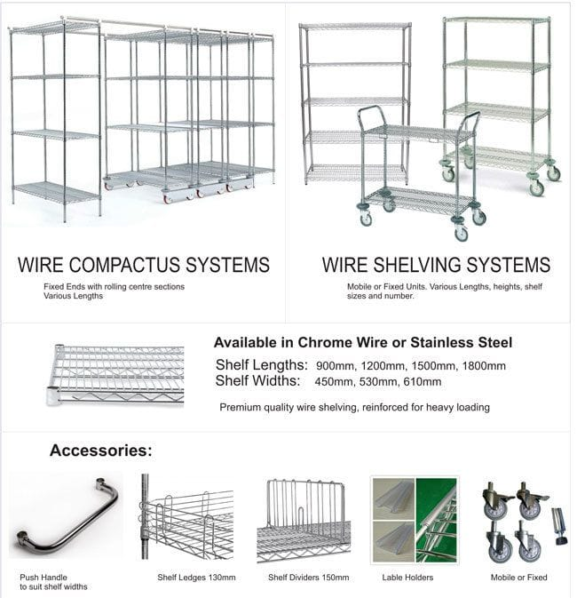 Wire Baskets & Shelving