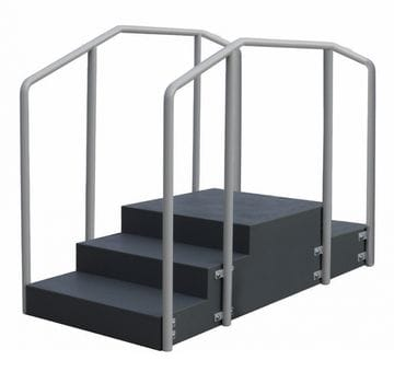 Medeleq Rehabilitation Stairs 180 degrees Dual Rail