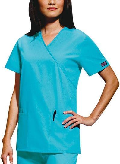 4801 Womens Mock Wrap Tunic - 16 Colours