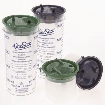 VacSax Bacticlear  2Lt Suction Liner Wide Bore box 30