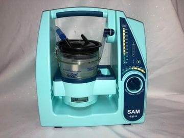 .SAM Portable Suction Unit, Battery Operated.