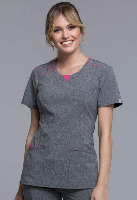,CK710A Top Infinity Heather Grey