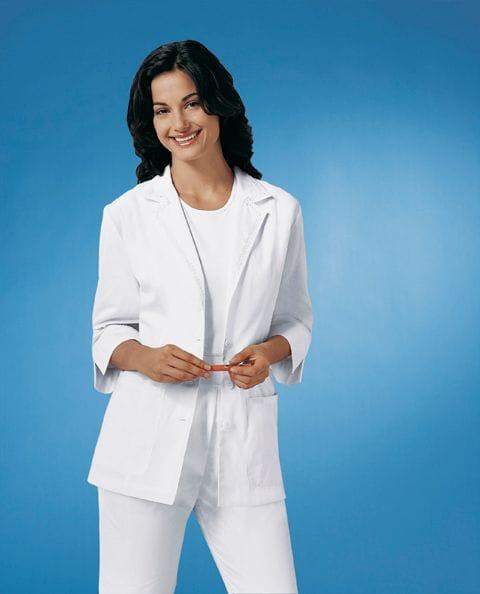 """Lab Coat 3/4 Sleeve 29"""" White"""