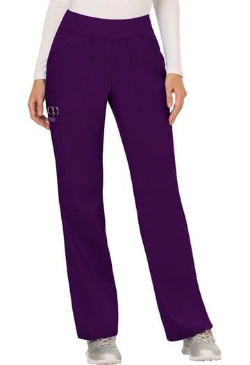 ...WW110 Eggplant mid rise Pull on Pant