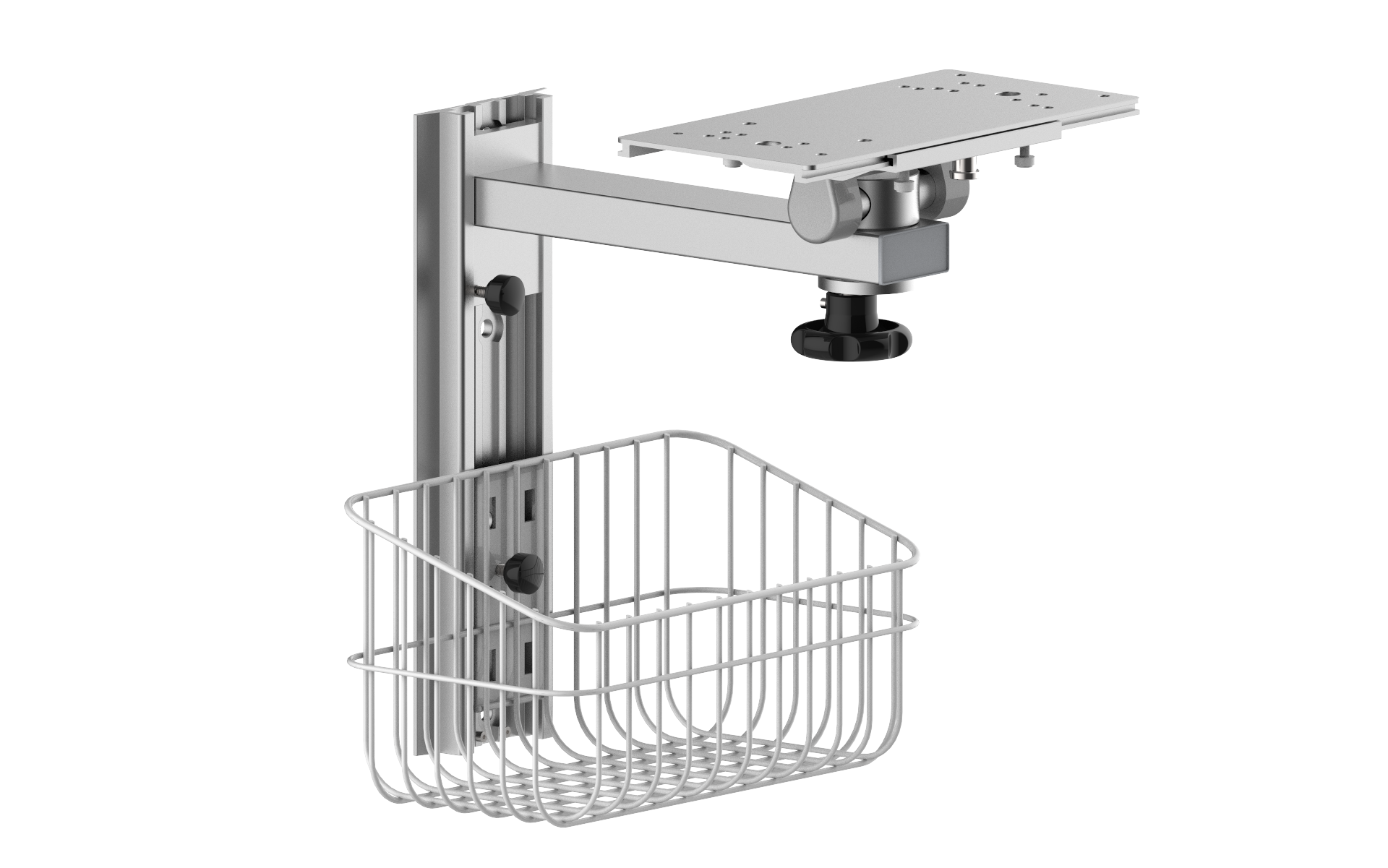 ..Patient Monitor Wall Mount with Basket