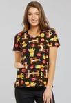 TF614 - A Bear likes Honey V-Neck Top Winnie the Pooh