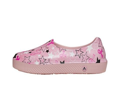 .SHOE RISE PINK RIBBON, STARS