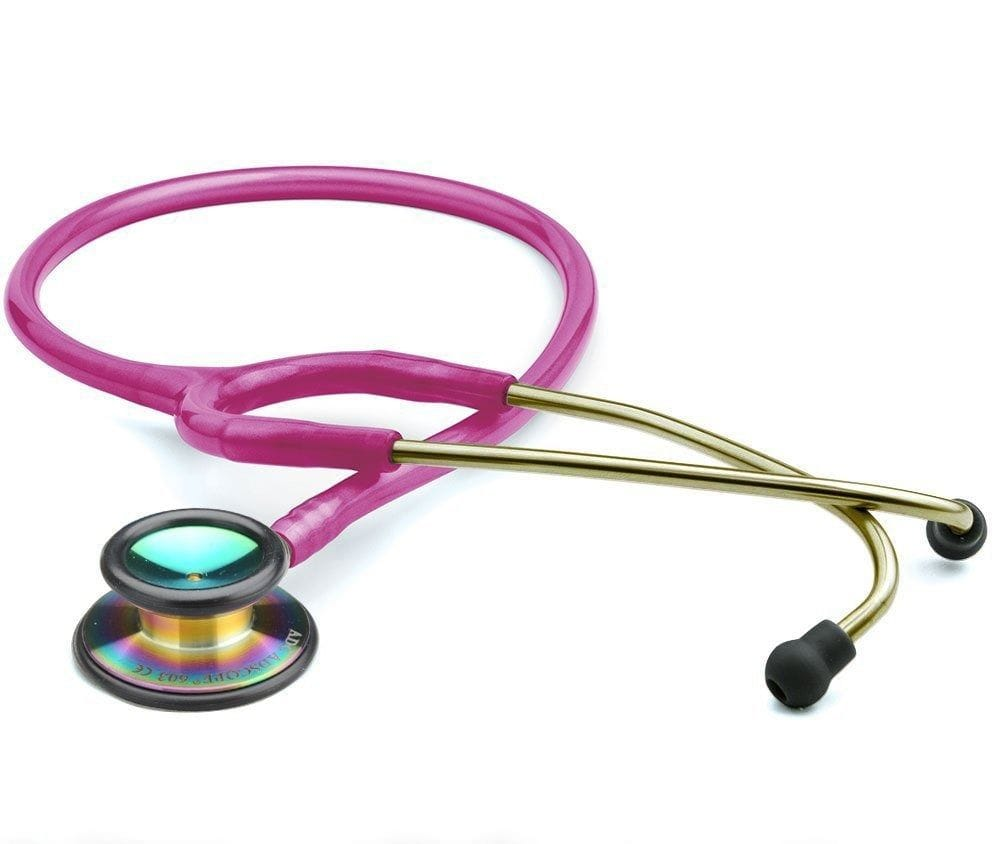 .ADC Stethoscope Clinician 603, Metallic Raspberry