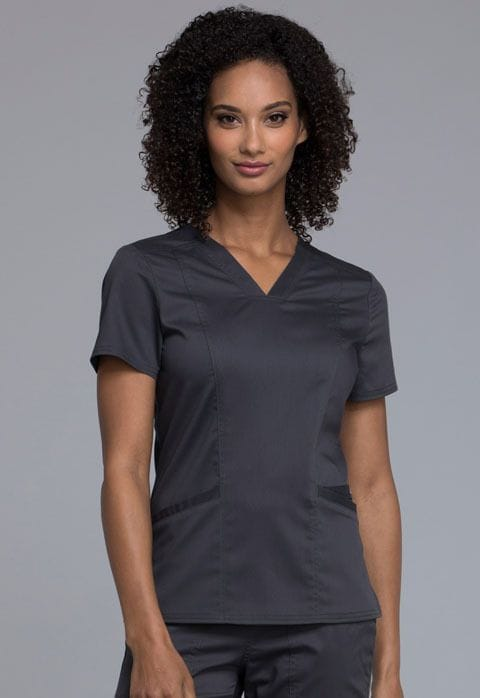 """...WW710 Pewter Womens V Neck Top 24"""""""