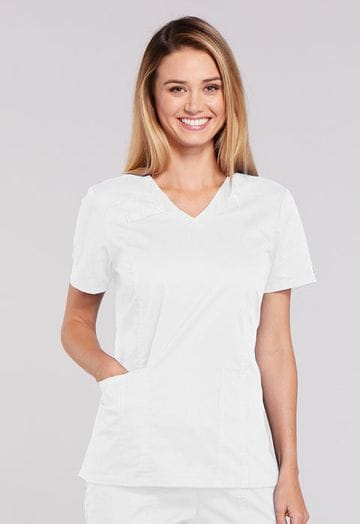 ..4710 White Core Stretch Ladies Top 26""