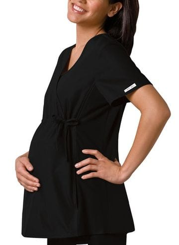 ..2892 - Flexible Black Maternity Top