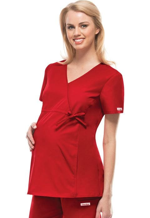 ..2892 - Flexible Red Maternity Top