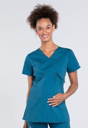 ..WW685 Caribbean Maternity Mock Wrap Top