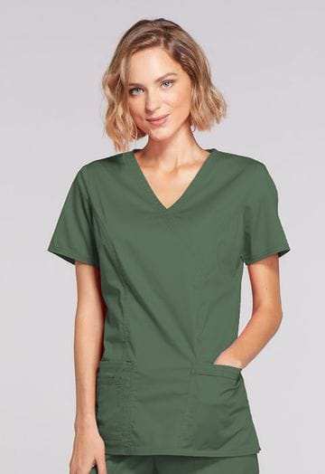 ..4728 - Olive Womens Mock Wrap Top