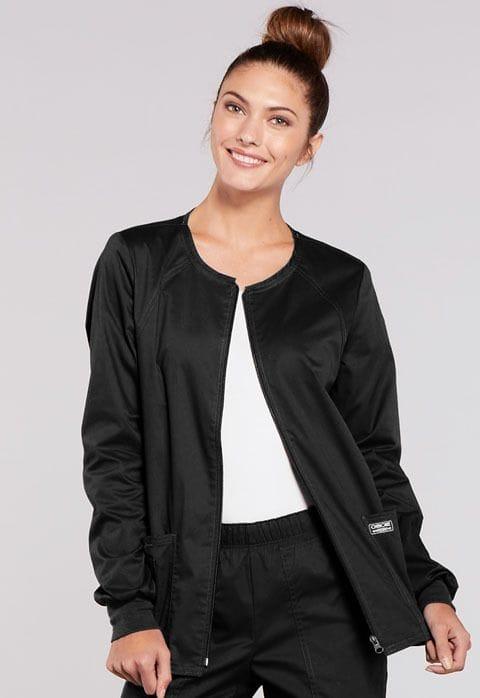 - 4315 Black Womens Warm-Up Jacket