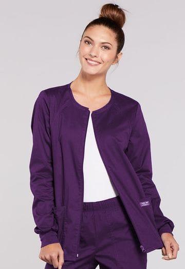 4315 Eggplant Womens Warm-Up Jacket