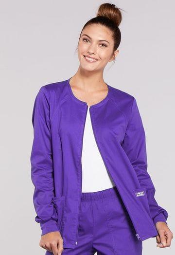4315 Grape Womens Warm-Up Jacket