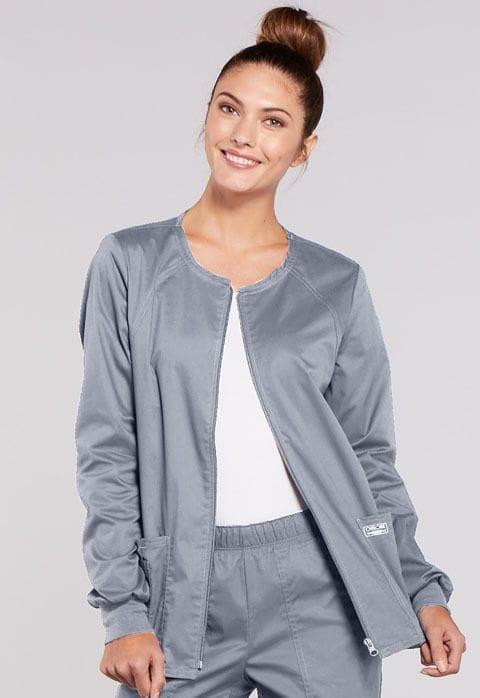 - 4315 Grey Womens Warm-Up Jacket