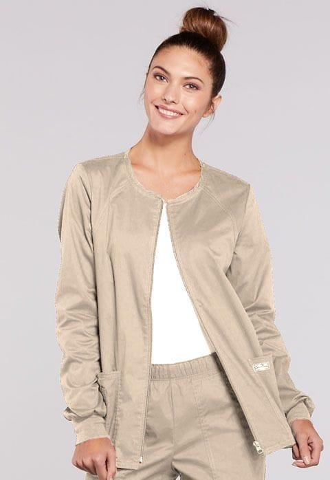 - 4315 Khaki Womens Warm-Up Jacket