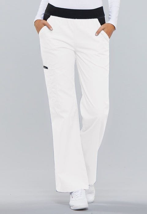 .1031 Womens White Pull-On Pant