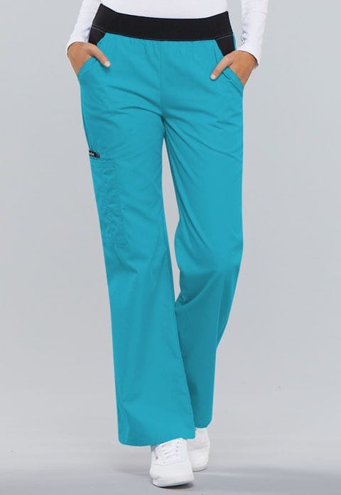 .1031 Womens Turquoise Pull-On Pant