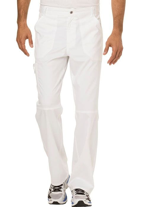 ..WW140 White Mens Fly Front Pant