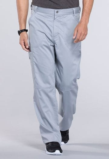 ..WW140 Grey Mens Fly Front Pant