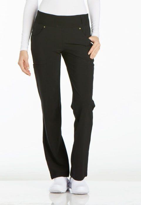 ..CK002 Black iFlex Mid Rise Straight Leg Pull-on Pant