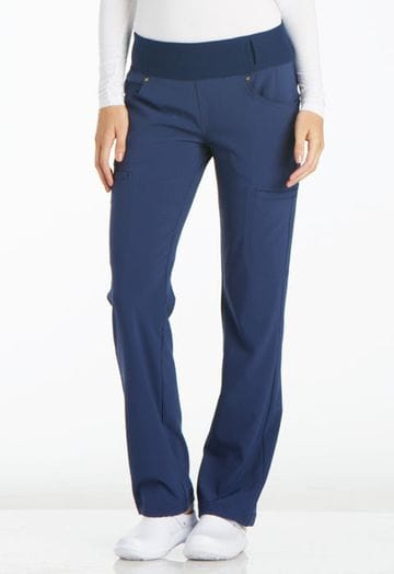 ..CK002 Navy iFlex Mid Rise Straight Leg Pull-on Pant