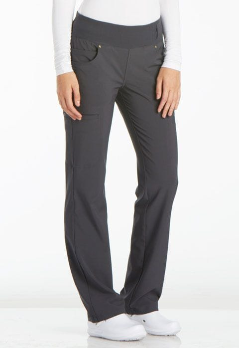 ..CK002 Pewter iFlex Mid Rise Straight Leg Pull-on Pant