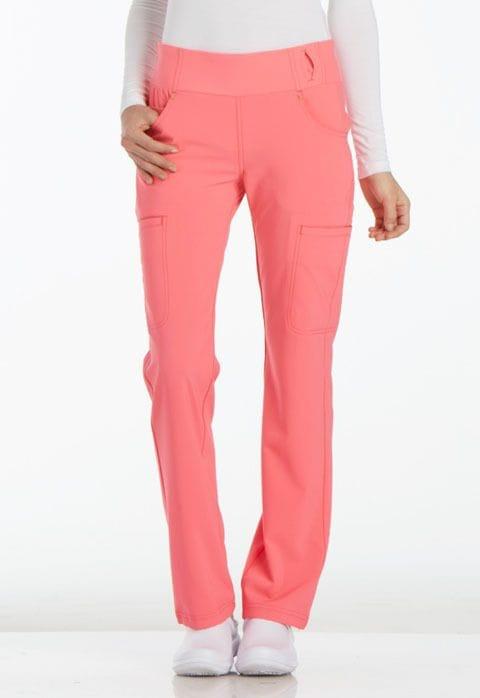 ..CK002 Karma Pink iFlex Mid Rise Straight Leg Pull-on Pant