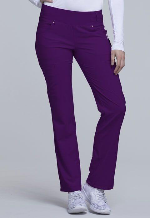 ..CK002 Eggplant iFlex Mid Rise Straight Leg Pull-on Pant