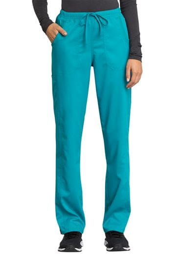 *WW235AB Women's Teal Mid Rise Drawstring Pant NEW