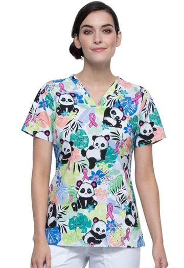 *CK651 GPUM Garden Panda-monium V-neck Top