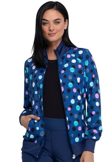 *CK372 Infinity Warm up Jacket in Poppin' Polka Dots
