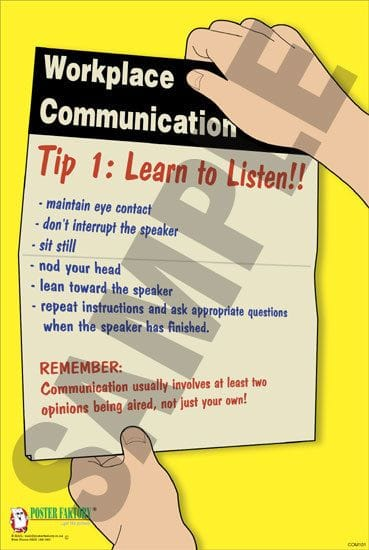 Communication Safety Posters