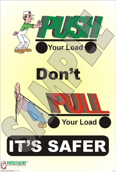 manual handling lifting techniques poster