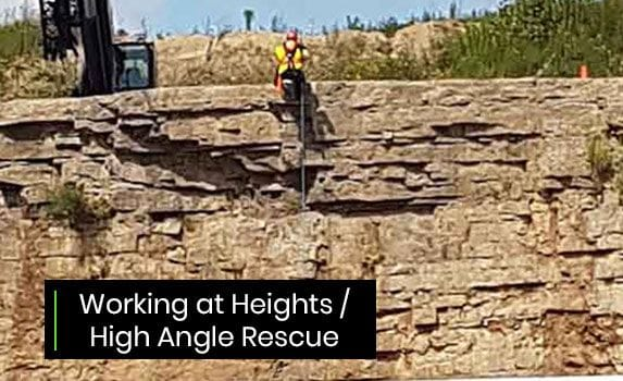 working at heights high angle rescue