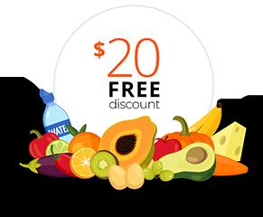 $20 free discount on fresh fruit
