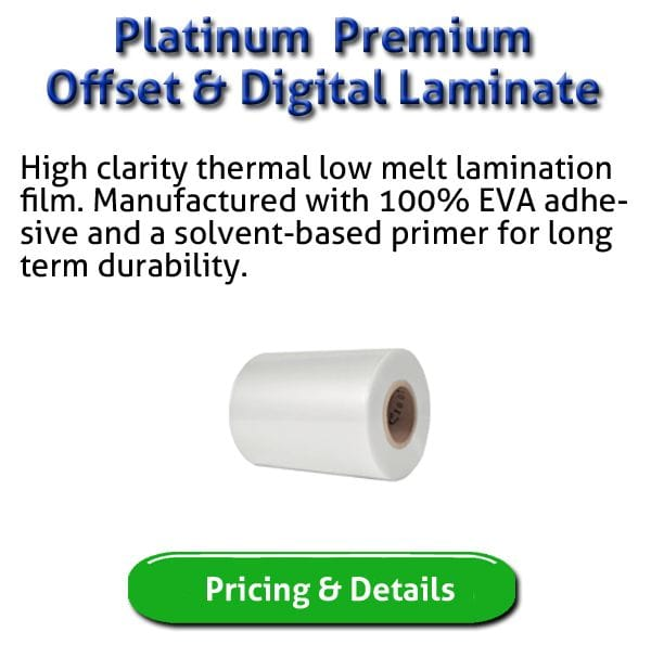 Platinum Lamination for Offset and Digital