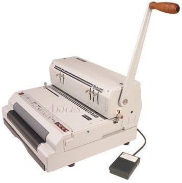 Akiles CoilMac ECI, Heavy Duty Manual Coil Punch and Electric Inserter.